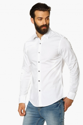 FLYING MACHINE Regular Fit Solid Shirt