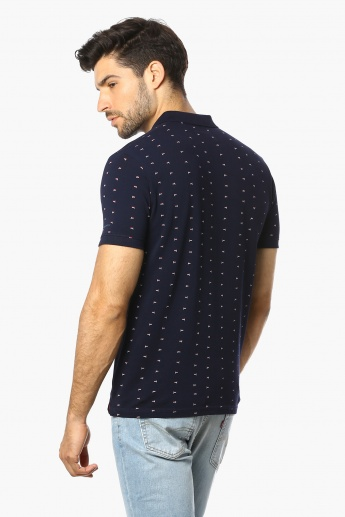 PEPE JEANS Printed Polo Neck T-Shirt