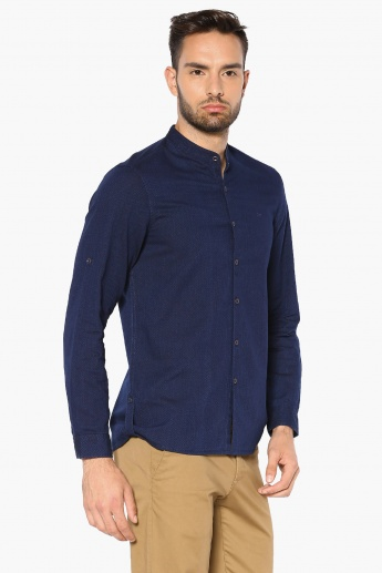 LEE mandarin Collar Cotton Shirt