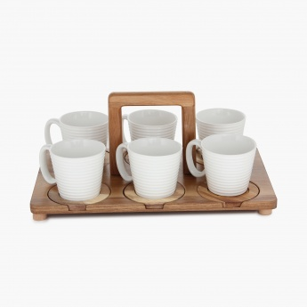 Altius Cup With Bamboo Shelf- Set Of 13 Pcs.