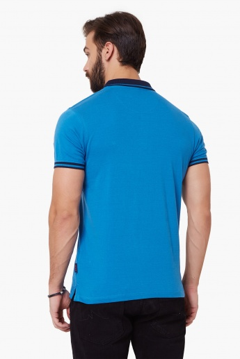 LEE Striped Urban Riders Polo Neck T-Shirt
