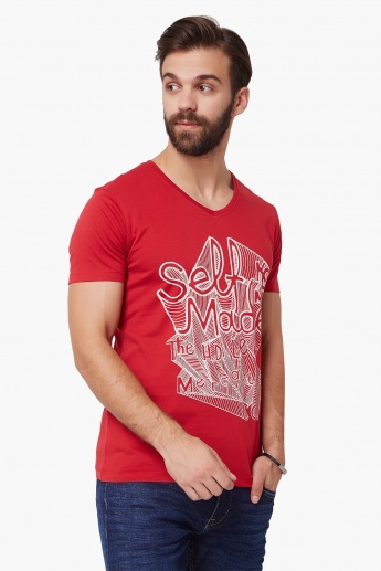 LEE Chest Imprint V-Neck T-Shirt