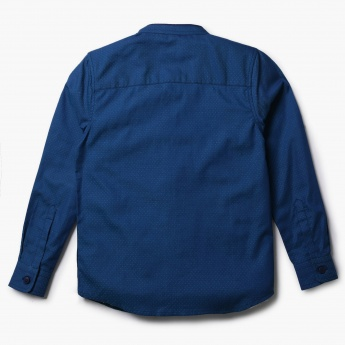 JUNIORS Solid Textured Full Sleeves Shirt