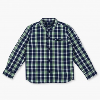 JUNIORS Madras Checks Full Sleeves T-Shirt