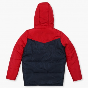 FAME FOREVER Quilted Hooded Jacket