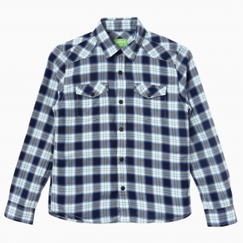 BOSSINI Full Sleeves Checkered Shirt