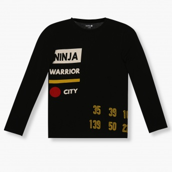 BOSSINI Printed Crew Neck Sweatshirt