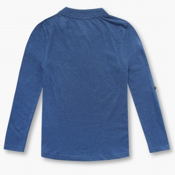 BOSSINI Solid Long Sleeve Henley T-Shirt