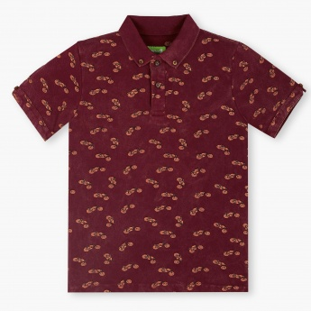 BOSSINI Printed Polo Neck T-Shirt