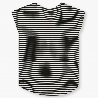FAME FOREVER Cute Kitty Striped Back Top