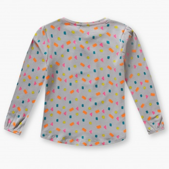 JUNIORS Printed Full Sleeves Top