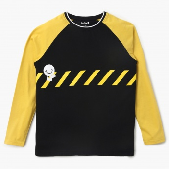 BOSSINI Graphic Printed Raglan Sleeves T-Shirt