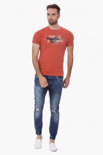 PEPE JEANS Chest Print Slim Fit T-Shirt