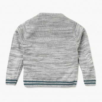 JUNIORS Patterned Full Sleeves Sweater