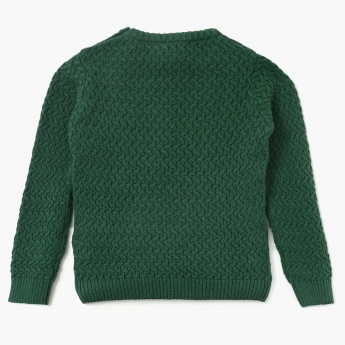 JUNIORS Cable Knit Full Sleeves Sweater