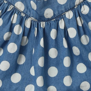 JUNIORS Polka Dot Dungaree Skirt