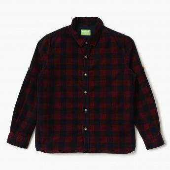 BOSSINI Checked Full Sleeves Corduroy Shirt