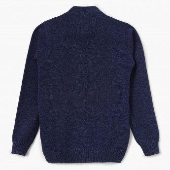 BOSSINI Solid Zip-Up Sweater