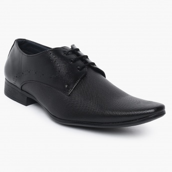 CODE Textured Lace-Up Formal Shoes