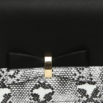 CODE Snakeskin Pattern Metallic Sling Bag