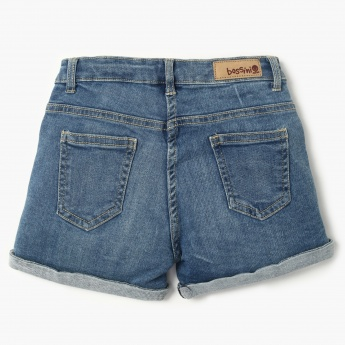 BOSSINI Distressed Denim Shorts