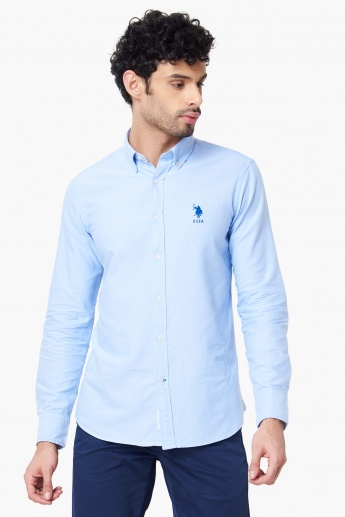 U.S. POLO ASSN. Solid Full Sleeves Shirt