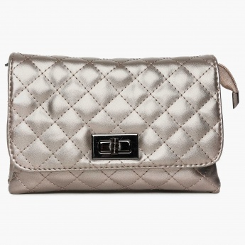 GINGER Quilted Flap Closure Sling Bag