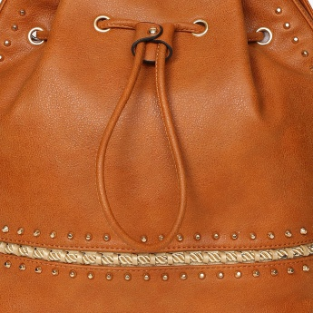 GINGER Studded Drawstring Closure Handbag