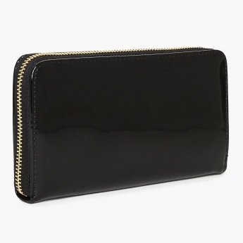 GINGER Bow Detail Zip Closure Wallet