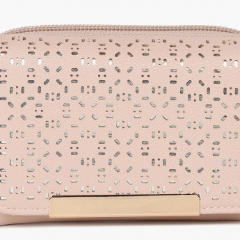 GINGER Laser Cut Design Zip Closure Wallet