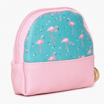 GINGER Flamingo Printed Toiletry Case