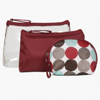 GINGER Printed Toiletry Pouch Set- 3 Pcs.