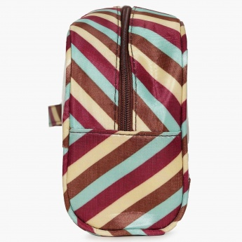 GINGER Striped Toiletry Pouch Set- 3 Pcs.