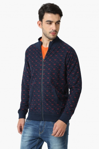 SPYKAR Printed Reversible Zip-Up Jacket