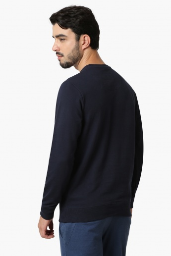 PEPE JEANS Printed Crew Neck Full Sleeves Sweatshirt