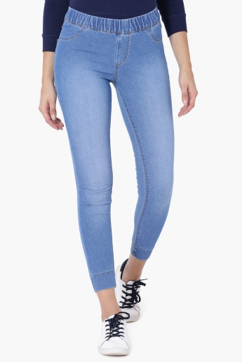 27b13455533f3 KRAUS Light Shade Stretch Jeggings | Blue