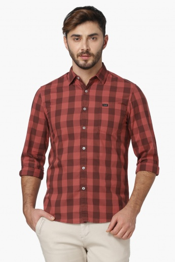 LEE Checked Patch Pocket Full Sleeves Shirt
