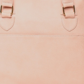 GINGER Solid Zip Closure Handbag