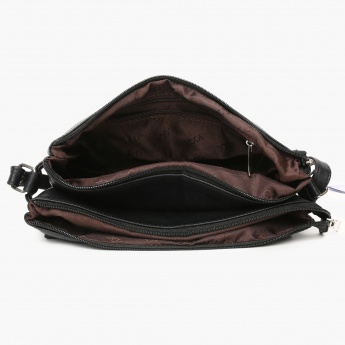 CODE Solid Dual Compartment Sling Bag