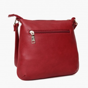 GINGER Solid Zip Closure Shoulder Bag