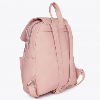 GINGER Solid Flap Closure Backpack