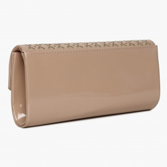 CODE Laser Cut Design Clutch With Sling