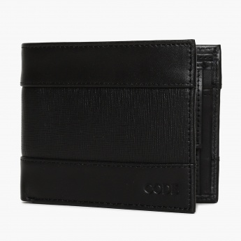CODE Textured Twofold Leather Wallet