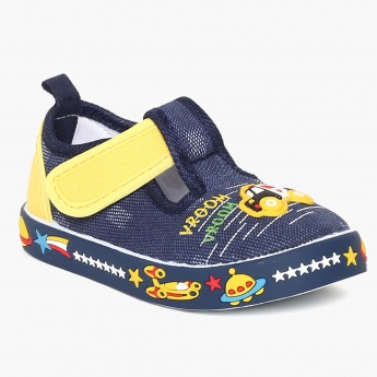FAME FOREVER Embellished Velcro Strap Shoes