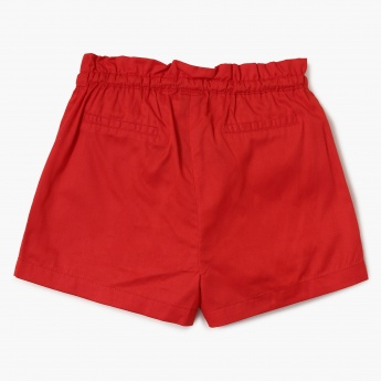 FAME FOREVER Solid Tie-Up Waist Shorts