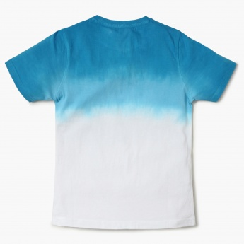 FAME FOREVER Ombre Printed Crew Neck T-Shirt