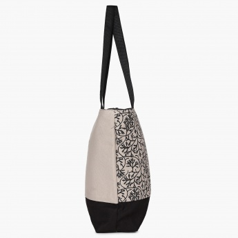 GINGER Printed Paneled Tote Bag