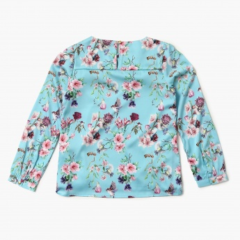 BOSSINI Floral Print Ruffle Detail Top