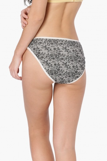 GINGER Monochrome Striped High Cut Panty