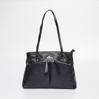 LAVIE Textured Zip Closure Handbag